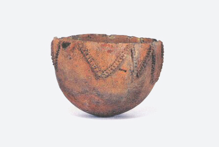 Earthenware Bowl with Raised Pattern